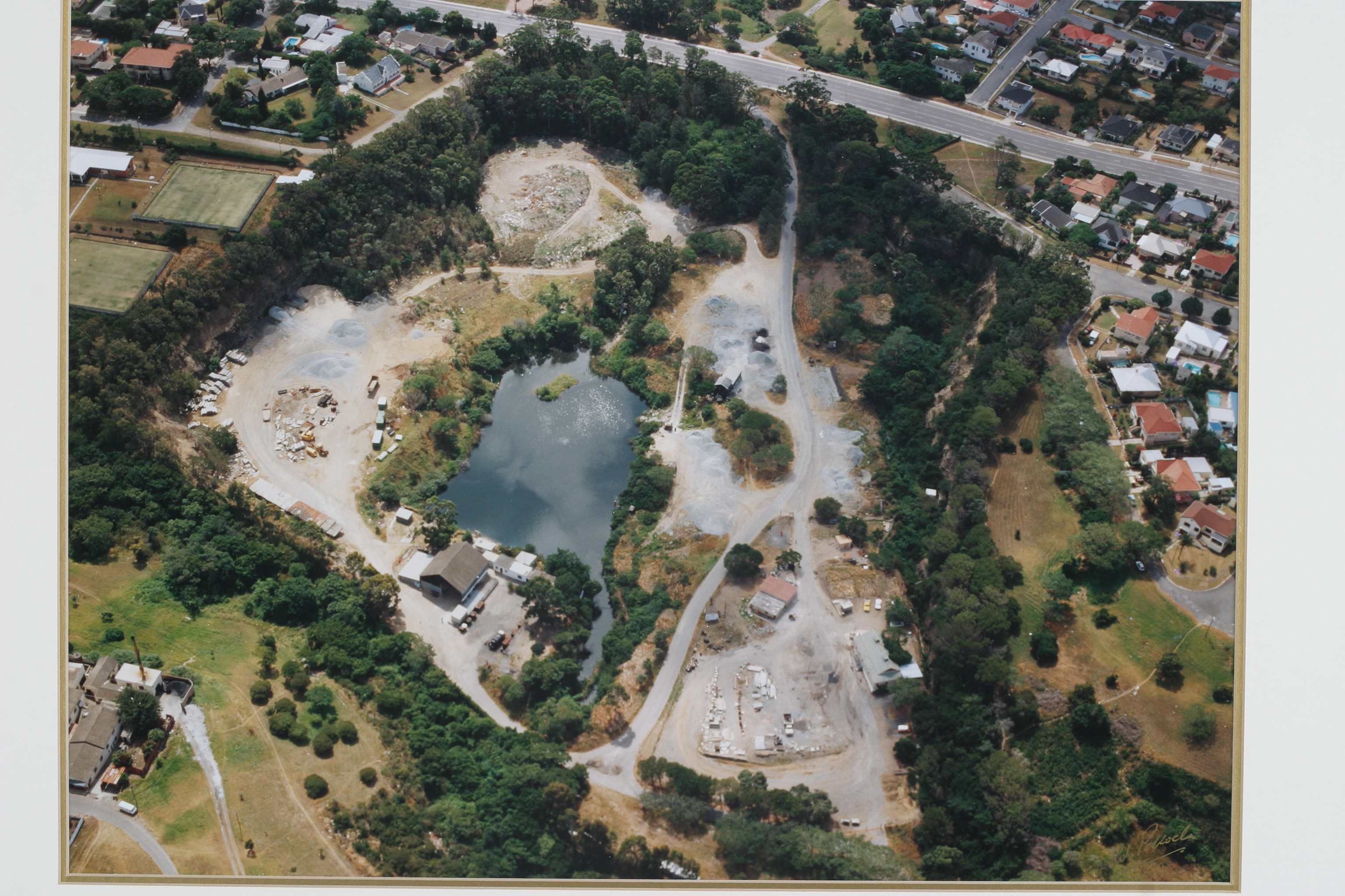 Aerial view of the Quarry in 1990
